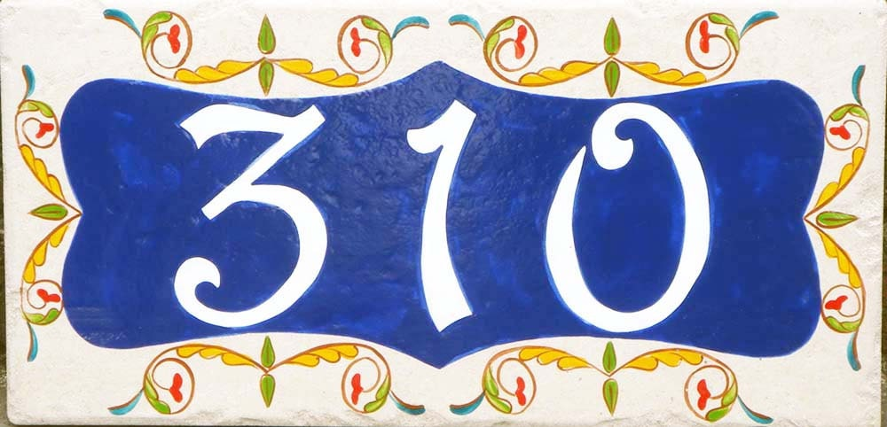 Ceramic house number house number plaque Italian house