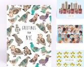 New York City Postcard Pack (6 unique cards)