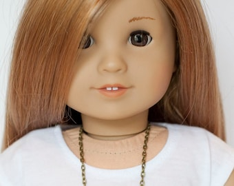 American Girl doll bead and chain necklace - earth tones