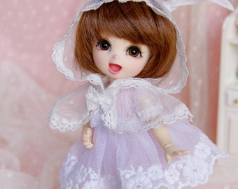 Lati Yellow/ Pukifee - Rosy Bunny Dress - Purple Color