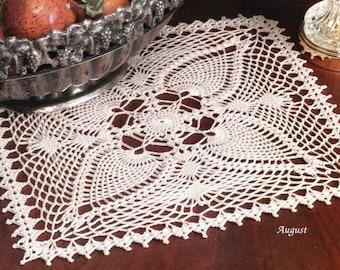 Square Pineapple Crochet Doily Pattern