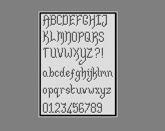 Cross stitch alphabets: four complete alphabets