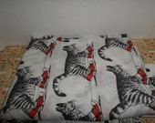 Kliban Cat Twin Flat Sheet or Fabric TENNIS SHOES Super Nice