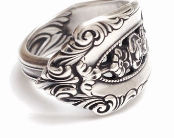Sterling Silver Spoon Ring - Circa 1934