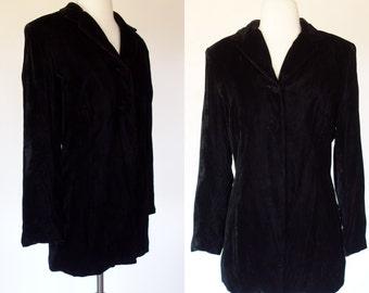 Black velvet blazer, petite, small