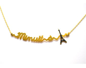 Necklace sentence midnight in Paris