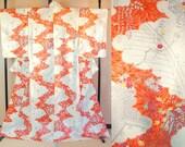 Orange vintage kimono wit...