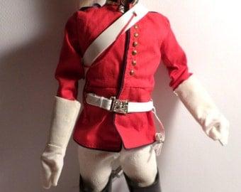 Original, 1964 GI Joe, wearing, Palitoy, Action Man, 1970s, Coldstream Guards, Uniform, Famous British Regiments, Buckingham Palace Guard