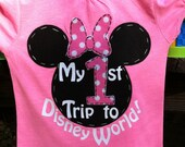 My First 1st Trip to Disney World Shirt for Girls