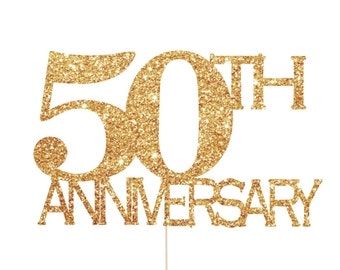 50th anniversary decorations 50th anniversary cake topper 50th anniversary party 50th wedding anniversary