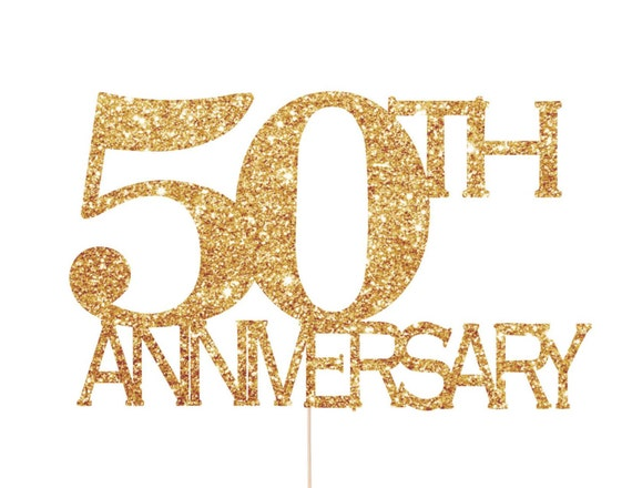 50th anniversary decorations 50th anniversary cake topper - Th anniversary cake decorations ...