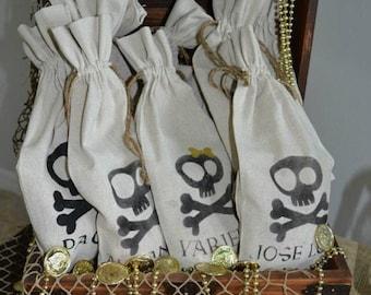 Personalized Loot Bag, Party Favor Bag, Goodie Bag, Jake Pirate