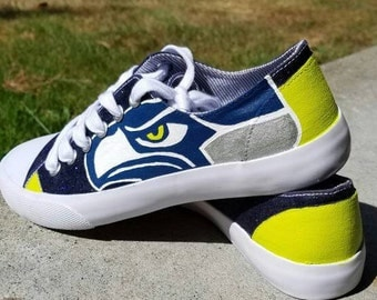 Seattle Seahawks Shoes (Converse Style)