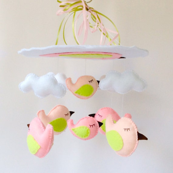Items Similar To Baby Mobile Birds Birds Baby Mobile