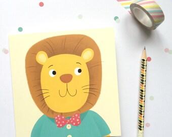 Lion Greetings Card - Lion Birthday Card - Kids Birthday Card - Childs Birthday Card