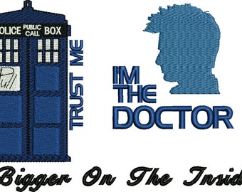 embroidery design Dr Who Embroidery Design