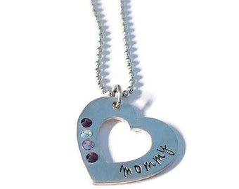 Mother Pendant with Birthstones