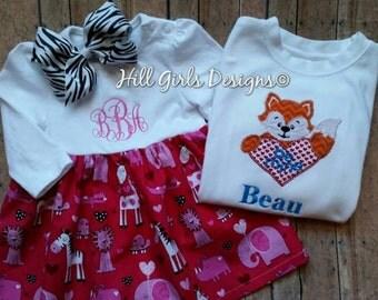Valentine's Fox Be Mine shirt