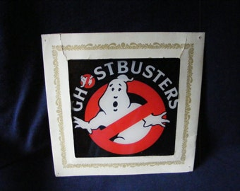 Ghostbusters Framed Logo, Framed Ghost, Ghost Toy, Ghost Collectible