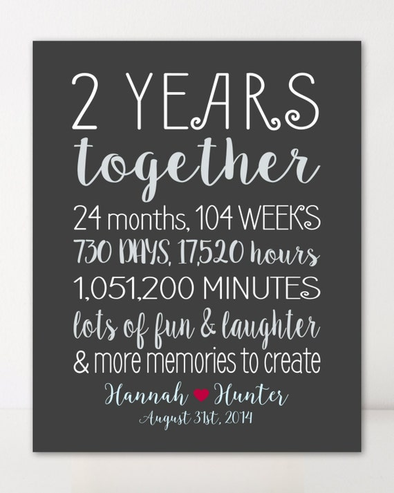 Ideas For 2 Year Wedding Anniversary Gift : Year Anniversary Gifts for Boyfriend Gift for Him Personalized Gift ...