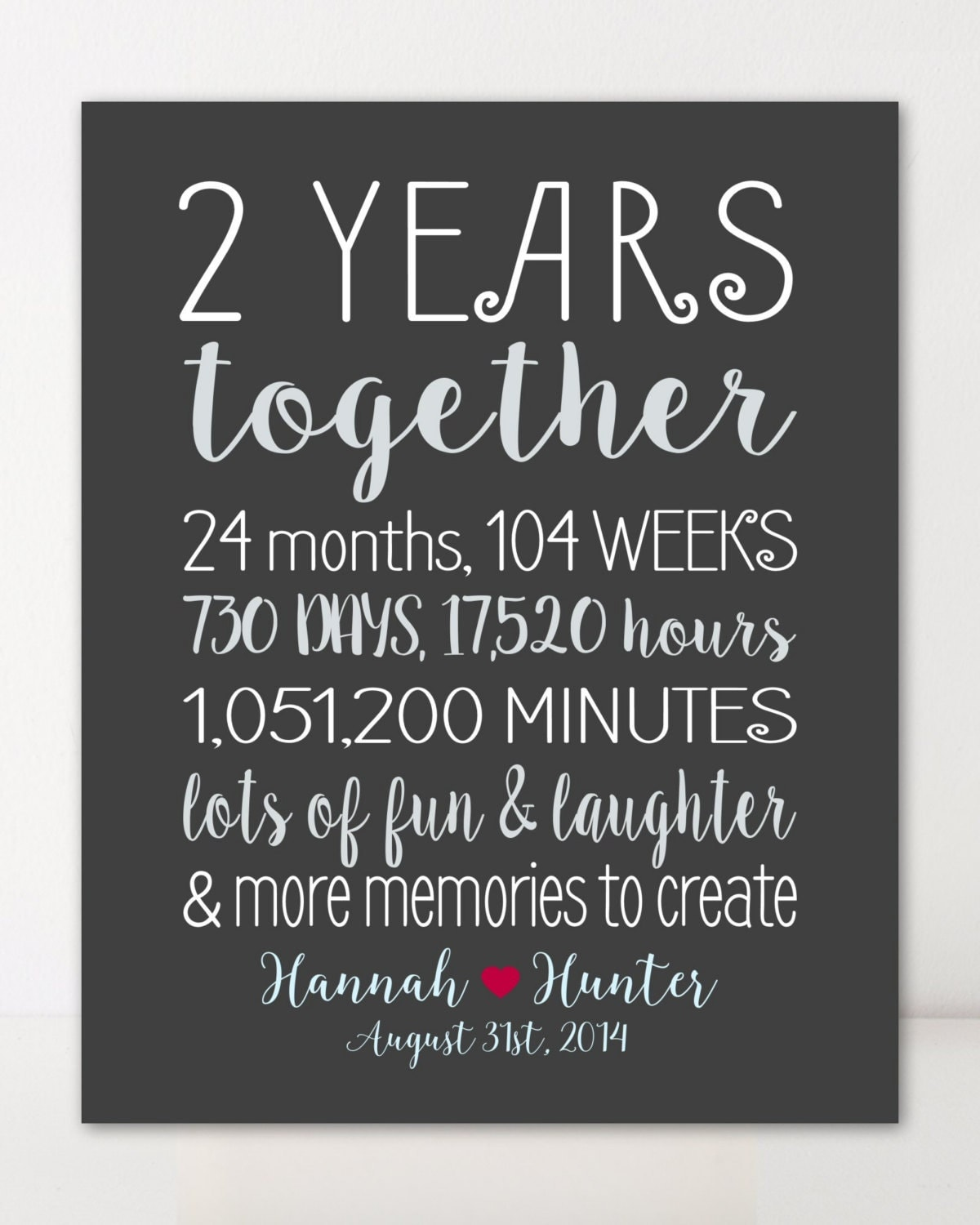 One Month Before Wedding Quotes: 2 Year Anniversary Gifts For Boyfriend Gift For Him