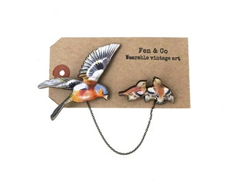 Mum gift, bird brooch, mother of the bride gift, bird pin, pin, badge, brooch,