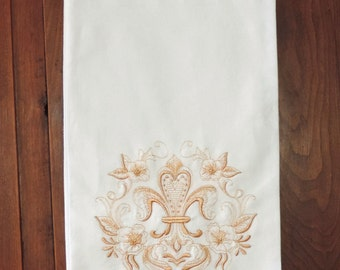 Fleur de lis dishes etsy - Fleur de lis towel bar ...