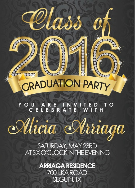 , graduation invitations 2016, invitation samples
