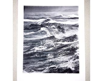 Water screen print 18x24