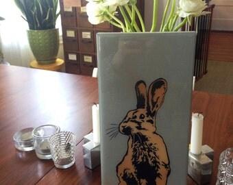 Ombre Rabbit, Bunny, Wall Art Stencil, Spray Paint