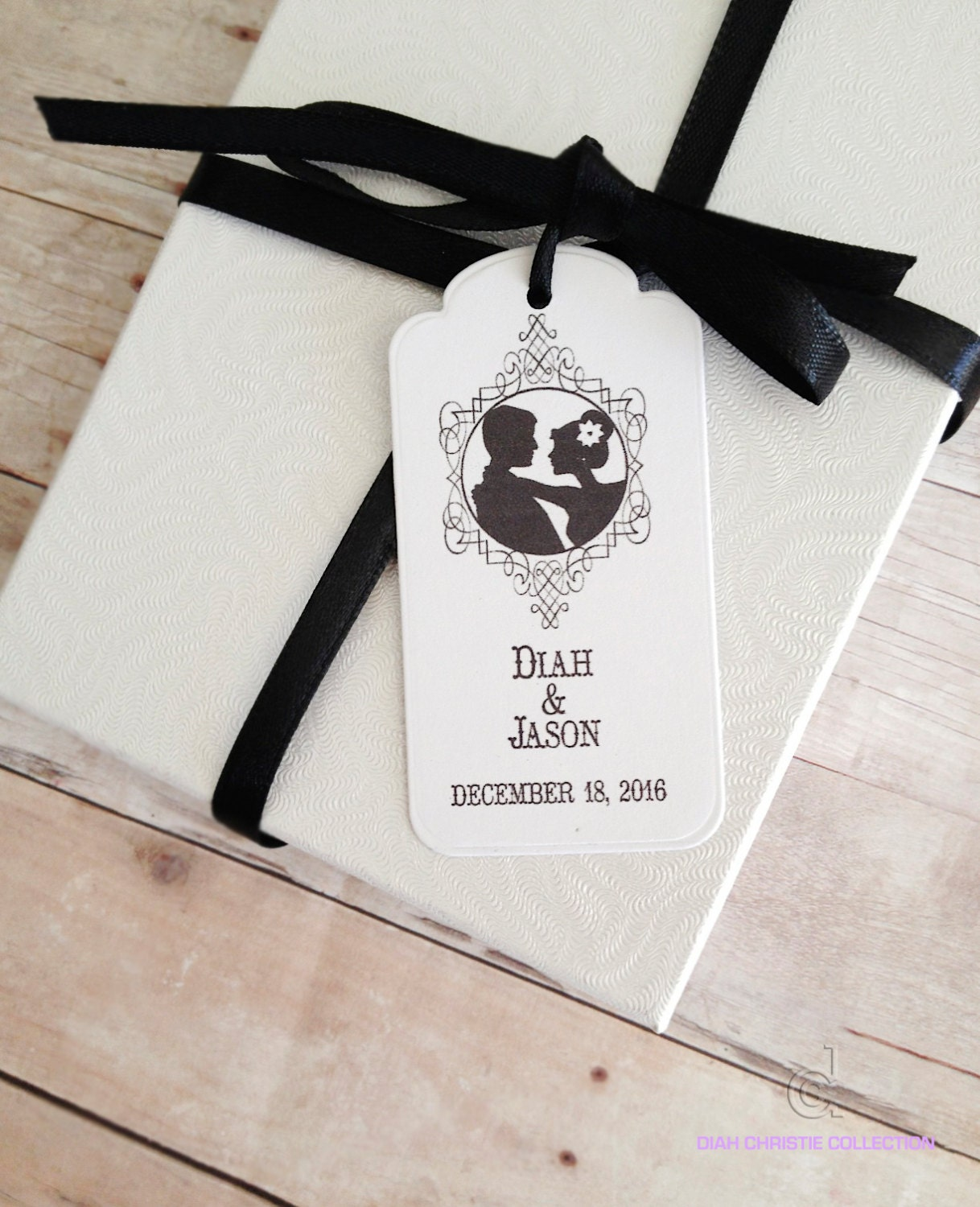 25 Wedding Thank You Tags Personalized Wedding Favor Tags