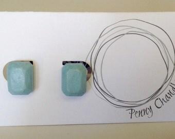 Arctic Blue Shimmer Gem Earrings