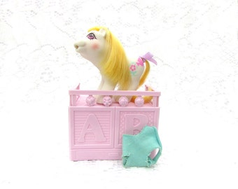 Vintage My Little Pony Drink 'N Wet Baby Cuddles With Accessories