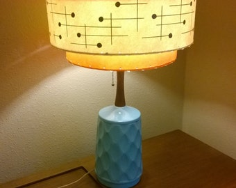 60s lamp etsy vintage mid century style fiberglass lamp shade modern atomic tangerine ivory mozeypictures Gallery