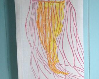 Block Printed Jelly Fish