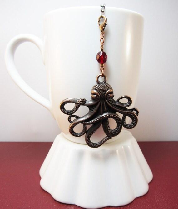 Jules verne inspired octopus tea infuser charm by camillelalune - Octopus tea infuser ...