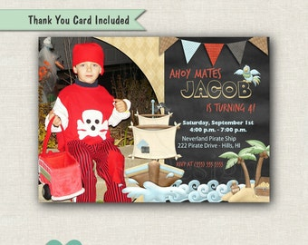 Printable Pirate Birthday Invitation - Pirate Boy Invitation - Pirate Invitation