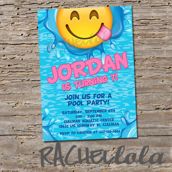 printable pool party invitations for kids