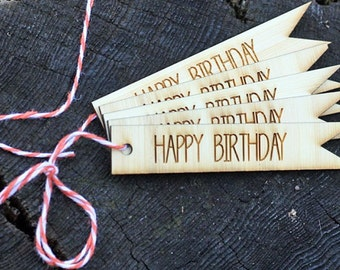 Happy Birthday Gift Tags // Repurposed Bamboo