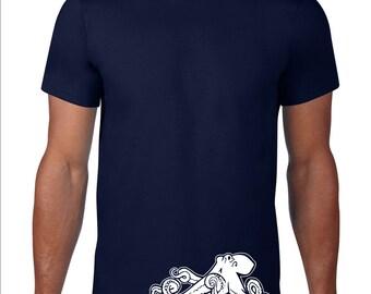 Octopus TShirt, Octopus T Shirt, Funny Tshirt, Ocean Animal T Shirt, Funny T Shirt, Octopus Tee, Nautical Graphic Tee, Men Plus Size