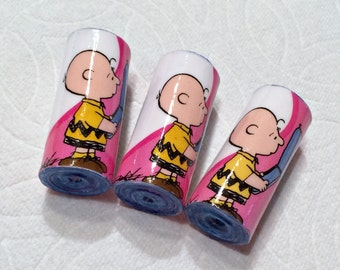 Charlie Brown Valentine Paper Beads