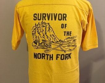 Vintage 1970's Downerwear Survior of the North Fork T-Shirt, Size: Large