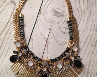 Chic bib fringe necklace