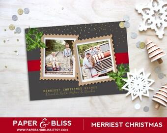 Merriest Christmas - Photo Christmas Card - Custom Text