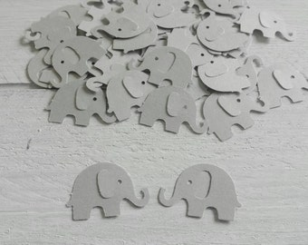 50 Grey Elephant Confetti-1 Inch-Scrapbooking-Gift Wrapping-Embellishments-Baby Shower-Girl-Boy-Birthday Party-Punches