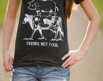Image result for vegetarian t shirt friends not food