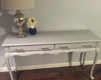 Grey Sofa Table / Desk / Entry Table