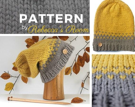 Knitting Pattern Chunky Wool Hat : Chunky Hat PATTERN knit hat pattern knitting pattern