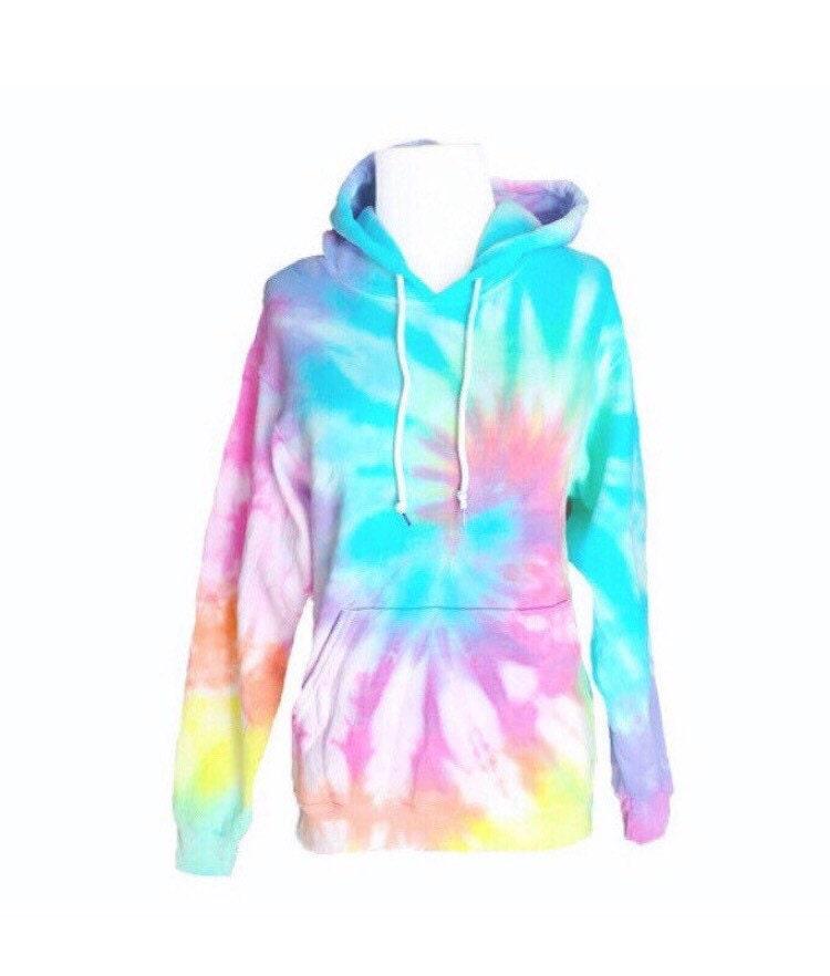 pastel tie dye hoodie pastel sweatshirt hooded sweatshirt. Black Bedroom Furniture Sets. Home Design Ideas