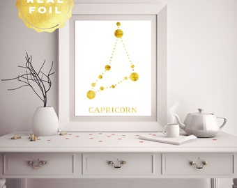 Zodiac Capricorn - Capricorn Constellation - Capricorn Star Sign - Zodiac Art - Wall Art Print - Astronomy Art - Astronomy Poster